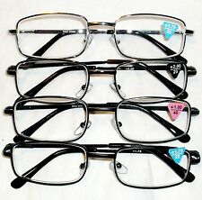 NEW STYLE R340 UNISEX READERS METAL FRAME AND POCKET CLIP DONT LOSE GLASSES