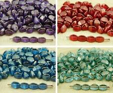 60pcs Crystal Golden Touch Pinch Bicone Faceted Spacer Czech Glass Beads 5mm