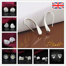 925 Sterling silver & CZ Crystal Andralok Stud Earrings / fashion women Studs