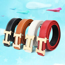 New Fashion Casual Children Kids Faux Leather Adjustable Belts For Boys Girls