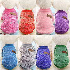 Dog Classic Sweaters Pet Puppy Warm Clothes Winter Soft Cat Jacket Coat Hoodies
