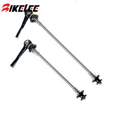 Ti QR Road Mountain Bike Bicycle Skewers CNC Quick Release Titanium Lever 48g