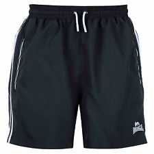 Lonsdale Two Stripe Woven Shorts Mens Navy/White Sportswear Short Boxing MMA