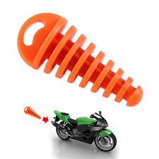 Mini Exhaust Pipe Muffler Orange/yellow Motorcycle Silencer Wash Plug Rubber XP