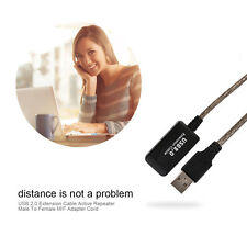 USB 2.0 Extension Cable Active Repeater Male To Female M/F Adapter Cord XP