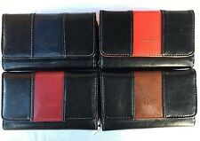 New  Ladies Girls  Fabretti Soft  Leather Large  Purse Credit Card  Holder