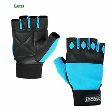 Women Weight Lifting Gloves Fitness Training Ladies Gym Workout Glove Sky-blue