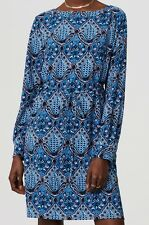 Ann Taylor LOFT Baroque Shirtdress Various Sizes NWT Electric Sapphire Color