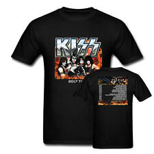 New KISS World Tour Concert Dates Print Black T Shirt Punk Men Women Size XS-3XL