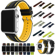 For Apple Watch Series 1/2 Replacement Soft Sport Silicone Band Bracelet Strap ^