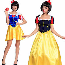 Ladies Fairytale Snow White Costume Storybook Princess Fancy Dress Outfit