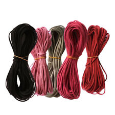 5pcs Flat Faux Suede Korean Velvets Leather Cord String for Jewelry Findings
