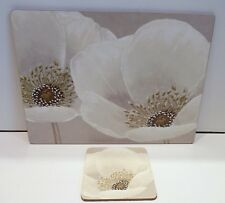 Neutral Poppy Contemporary Placemats & Coasters 6 Placemats 6 Coasters *NEW*