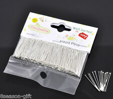 """Wholesale Lots Packet(300PCs) Well Sorted Head Pins 2.5cm(1"""")"""