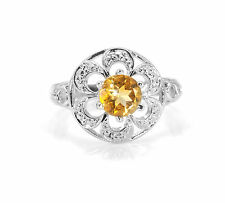 925 Sterling Silver Ring with Yellow Citrine Gemstone Natural Handcrafted eBay.