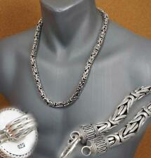 """8mm HEAVY BALI BYZANTINE 925 STERLING SILVER MENS NECKLACE KING CHAIN 22 28 30"""""""