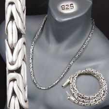 6mm BALI BYZANTINE 925 STERLING SILVER MENS NECKLACE KING CHAIN 20 22 24 26 30""