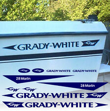 Grady White 28 Marlin Decals Factory Sized Hull Replacement Stickers