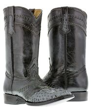 mens gray crocodile alligator head western distressed leather cowboy boots rodeo