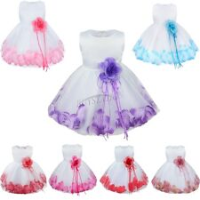Petals Flower Girls Princess Toddler Baby Wedding Party Pageant Tutu Dresses