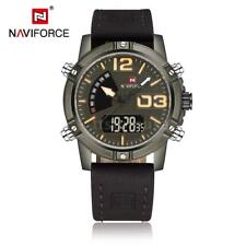 Fashion Mens Dual Time Movt Military Quartz Digital Sport Wrist Watch Alarm G1X9