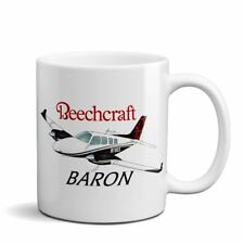 Beechcraft Baron Custom Airplane Ceramic Mug - Personalized w/ N#