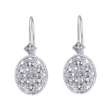 Diamond Accent Filigree Leverback Earrings in Gold Over $191.92