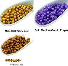 100pcs Gold Shine Gold Round Czech Glass Beads Small Spacer 3mm