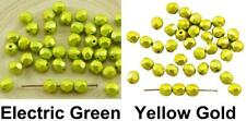 30pcs Metalust Metallic Czech Glass Round Faceted Fire Polished Beads 6mm