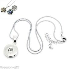 Wholesale Lots Lobster Clasp Snake Chain Necklace Pendant Fit Snap Buttons