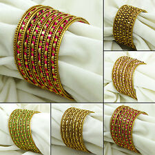Indian Women Designer Thread Wrapped Bangle Set Kada Bracelets Fashion Jewelry
