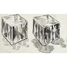 Delightful Ice Cube Grisaille Watercolor