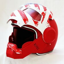 Masei Atomic-Man 610 US Patriot USA Flag Flip Up Bike Motorcycle Helmet