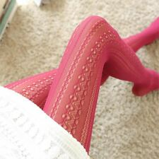 Fashion Hollow Mesh Lace Vertical Strips Pantyhose Sexy Women Chiffon Tights For