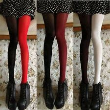 Tights Fashion Asymmetry Contrast Color Velvet Pantyhose Lady Girls Sexy Stockin