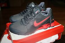 MEN'S NIKE SHOX AVENUE LTR LEATHER 833584 006 RUNNING SHOES NEW BLACK RED