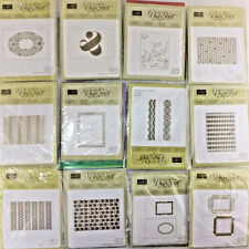 Stampin Up Sizzix Textured Impressions Embossing Folders Designer Frames U PICK