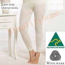 Women's 100% Pure Merino Wool Long John Top Leggings Pants Thermal Underwear 01