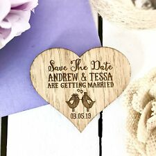 Save The Date Magnet Wood Wedding Rustic Wooden Save The Date Magnets 01STD