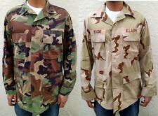 Genuine US Army Woodland Camouflage Vintage Ripstop Fields Shirt Jacket mens