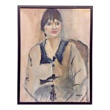Elegant Betty W. Portrait of a Woman Oil on Canvas Painting
