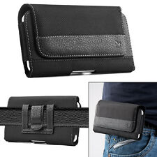 """Leather Horizontal Belt Clip Case Pouch Cover Holster For Apple iPhone 6 6s 4.7"""""""