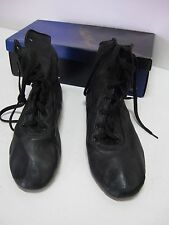Paul Wright Dance Shoes High Top Jazz Boot Split Sole, Black Leather, Size 1 New