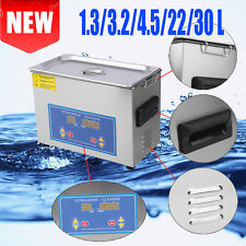 Stainless Steel 1.3~30 Liter Industry Heat Ultrasonic Cleaner Heater Timer US BT
