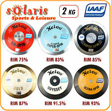 1x Nelco 2kg Discus IAAF Certified Athletics Competition Implement 75-93% Rim