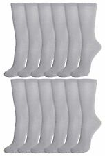 12 Pairs of Mens Crew Socks, Cotton, Basic, Athletic Sports Socks Pack
