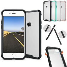 Hybrid Crystal Clear Acrylic Hard Bumper Skin TPU Case Cover For Apple iPhone