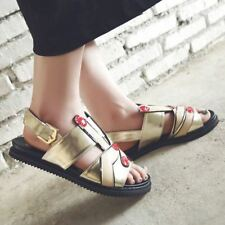 Rubber Material Buckle Strap Closure Ankle Strap Back Sandal For Women