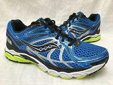 New!! Mens Saucony 25160-2 Progrid Pinnacle 2 Running Shoes Blue/Ylw SIZE 9 L35