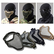 Airsoft Steel Wire Mesh Half Face Mask Tactical Hunting Gear Protection Skirmish